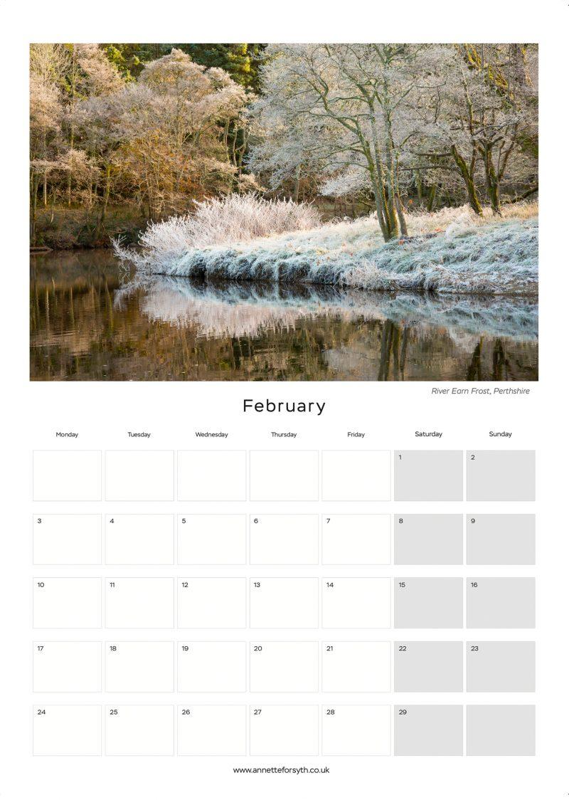 Calendar 2020 Inside February - Annette Forsyth Photography