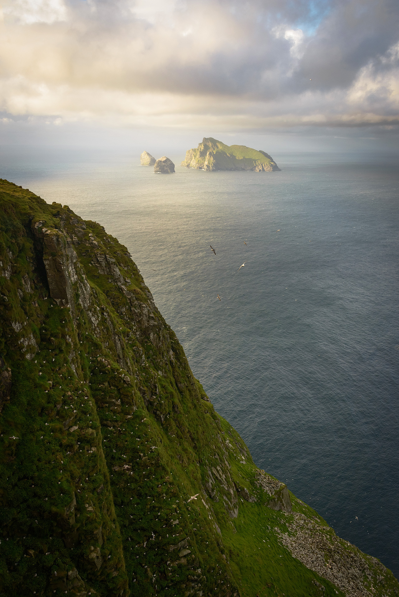 Boreray Evening Glow from Conachair, St. Kilda