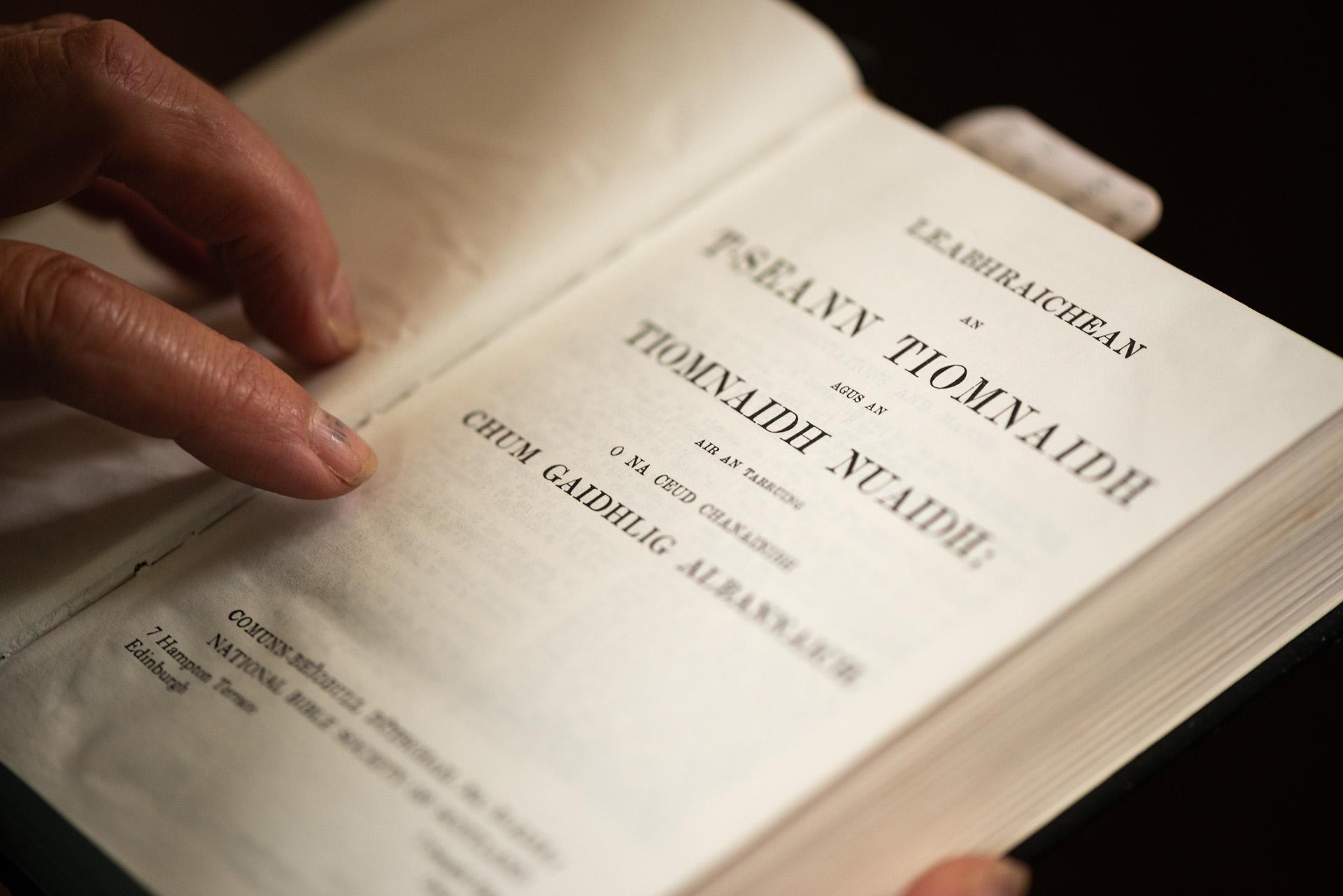 Gaelic Bible in Village Church, St. Kilda