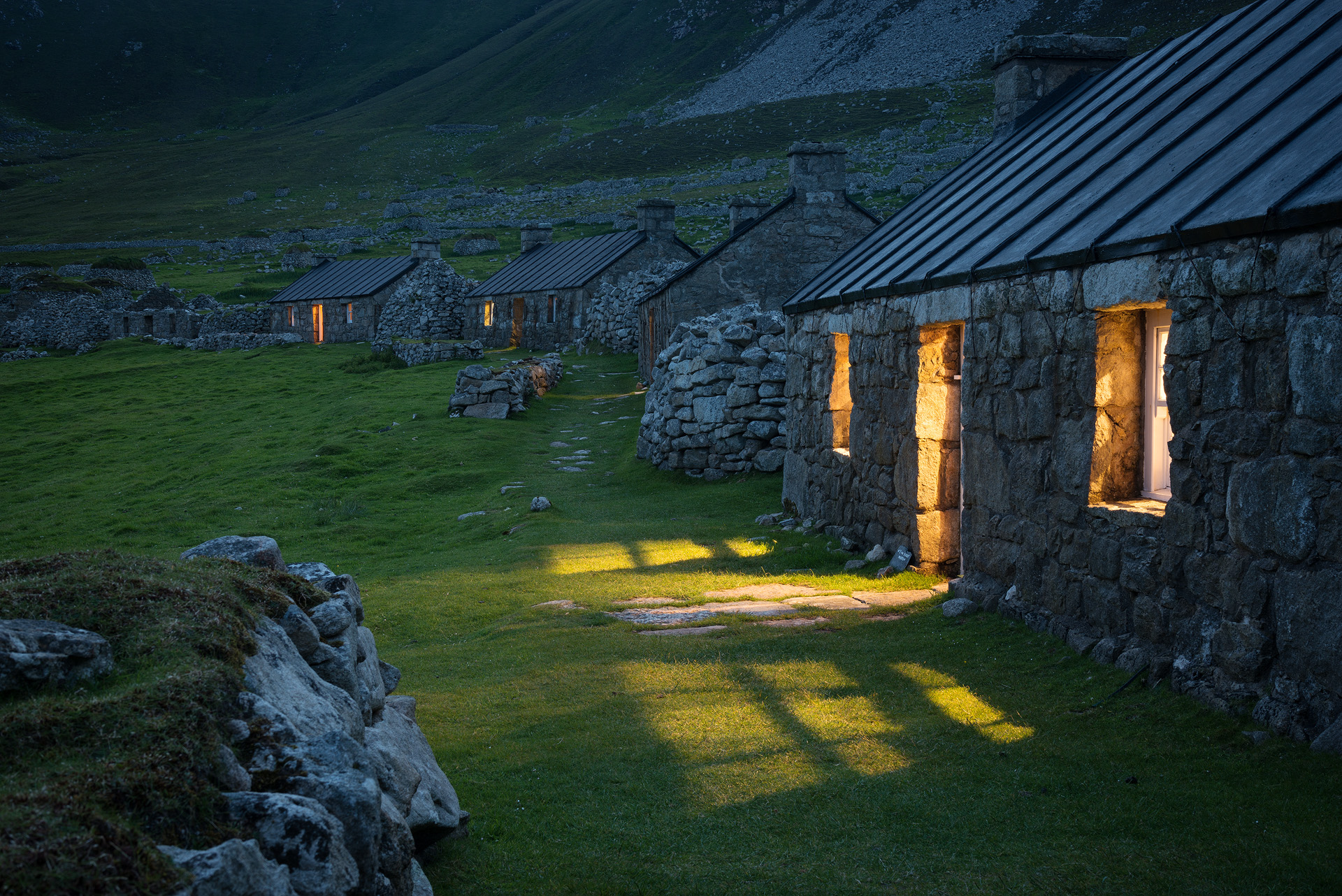 Time for bed, The village, Hirta, St. Kilda