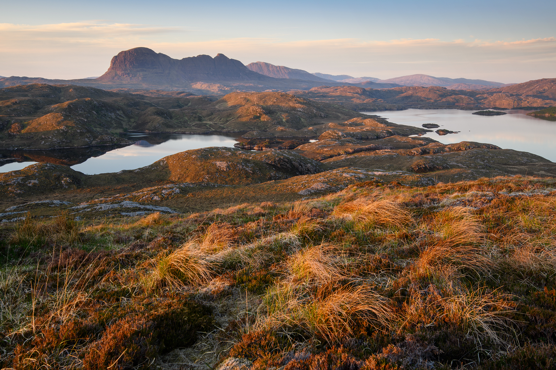 Suilven Sunset, Loch Sionasgaig Assynt - Annette Forsyth Photography