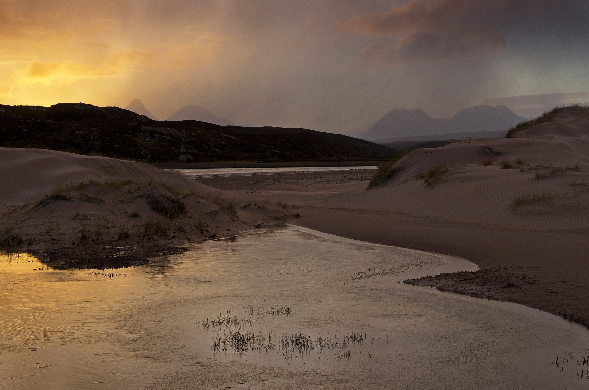 Snowshowers at Dawn, Achnahaird