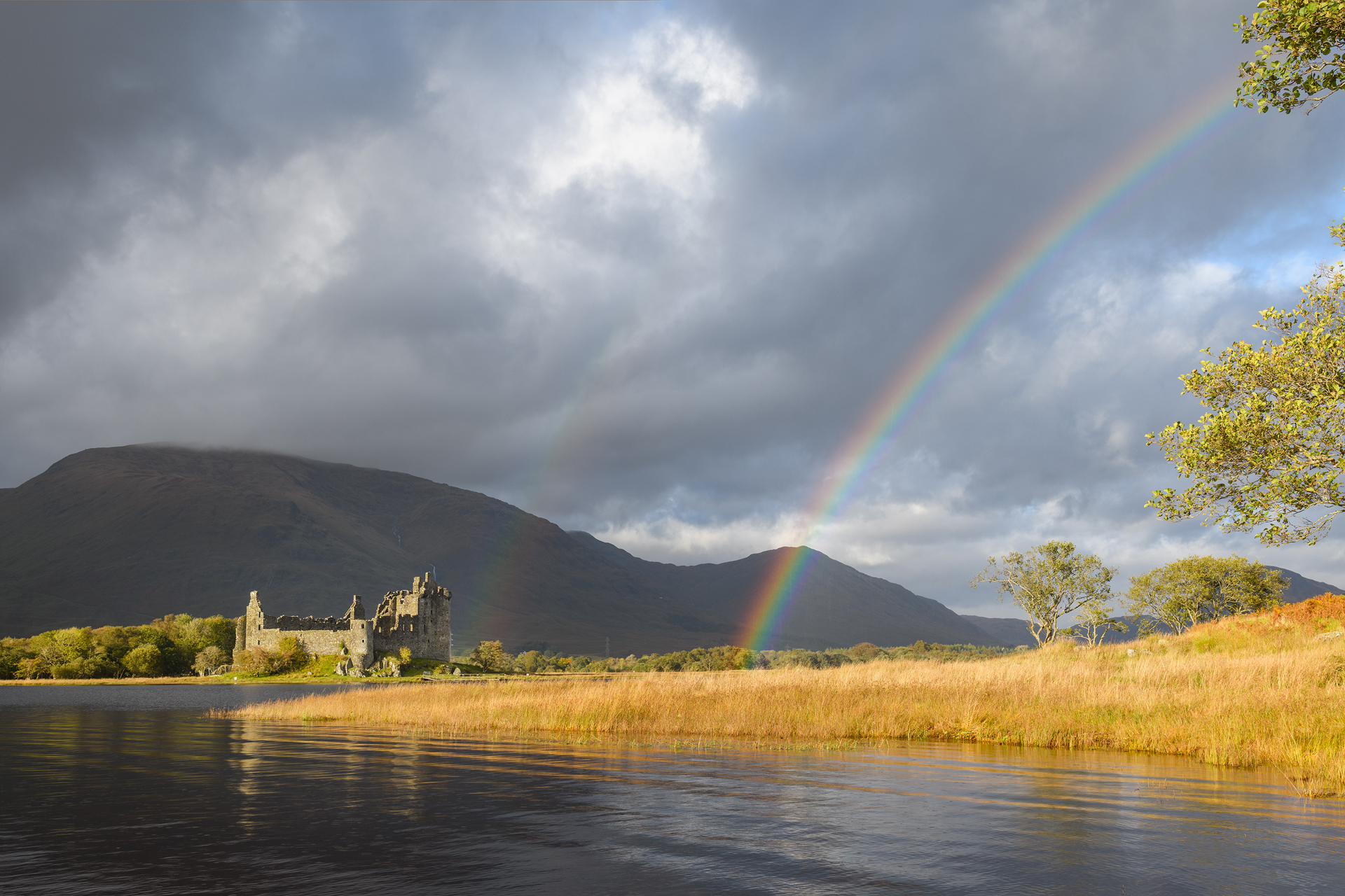 Kilchurn Castle Rainbow