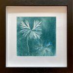 Aconitum napellus - magical Monkshood leaves -in black frame