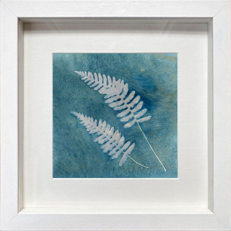 Fern fronds - White Frame